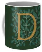 Forest Leaves Letter D Coffee Mug
