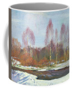 Forest River In Winter Coffee Mug