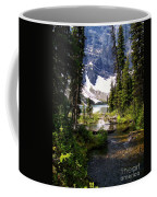 Forest View To Mountain Lake Coffee Mug by Greg Hammond