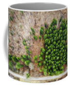 Forest With Green Trees From Above Coffee Mug