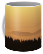 Forested Hills In Early Morning Mist Coffee Mug