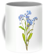 Forget-me-not Flowers On White Coffee Mug