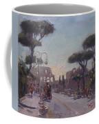 Fori Romani - Street To Colosseo Coffee Mug