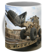 Forklift Is Unloaded Off Of A Logistics Coffee Mug by Stocktrek Images