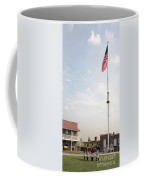 Formation Under The Flag At Fort Mchenry In Baltimore Maryland Coffee Mug
