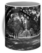 Forsyth Park Black And White Coffee Mug