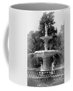 Forsyth Park Fountain Black And White With Vignette Coffee Mug
