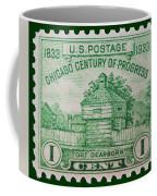 Fort Dearborn Postage Stamp Coffee Mug