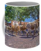 Fort Worth Stockyards Longhorn Drive Coffee Mug