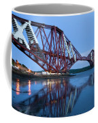 Forth Railway Bridge In Edinburg Scotland  Coffee Mug