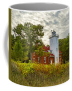 Forty Mile Point Lighthouse Lake Huron Lower Peninsilat Mi  Coffee Mug