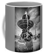 Fountain On Place De La Concorde - Paris Coffee Mug by Barry O Carroll