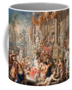 Fountain Scene In Front Of A Palace Coffee Mug