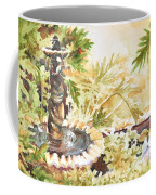 Fountain With Clay Birds Coffee Mug