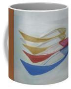 Four Boats And A White One Coffee Mug