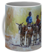 Four Donkey Drawn Cart Coffee Mug