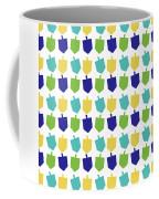 Four Dreidels Pattern- Art By Linda Woods Coffee Mug