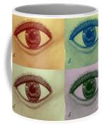 Four Eyes In Pop Art Coffee Mug