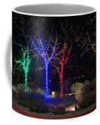 Four Lighted Trees Coffee Mug