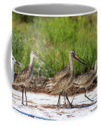 Four Marbled Godwits Coffee Mug