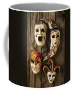 Four Masks Coffee Mug