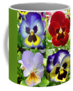 Four Pansies Coffee Mug