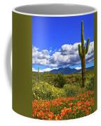 Four Peaks And Poppies, Springtime, Arizona Coffee Mug