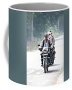 Four People On A Motorbike Coffee Mug