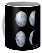 Four Phases Of The Moon Coffee Mug by Rolf Geissinger