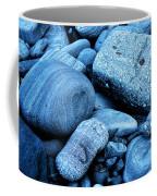 Four Rocks In Blue Coffee Mug