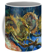 Four Sunflowers Gone To Seed, By Vincent Van Gogh, 1887, Kroller Coffee Mug