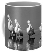 Four White Pelicans In A Funny Pose Coffee Mug
