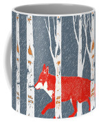 Fox And Birch Trees Coffee Mug