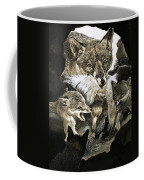 Fox Delivering Food To Its Cubs  Coffee Mug by English School