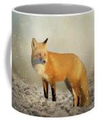 Fox In The Snowstorm - Painting Coffee Mug