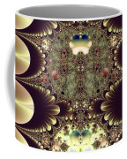 Fractal 42 Cameos In Gold And Ivory Coffee Mug