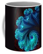 Fractal Art - Blue Wave Coffee Mug