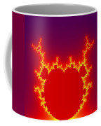 Fractal Burning Heart Coffee Mug