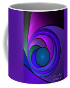 Fractal Design In Lilac, Pink And Blue Coffee Mug