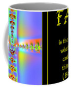Fractal Faith Hebrews 11 Coffee Mug by Rose Santuci-Sofranko