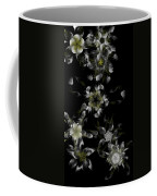Fractal Floral Pattern Black Coffee Mug