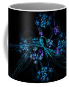 Fractal Forget Me Not Bouquet  Coffee Mug