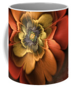 Fractal Pansy Coffee Mug by John Edwards