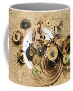 Fragmented Clockwork In The Sand Coffee Mug