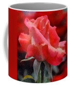 Fragmented Pink Rose Coffee Mug