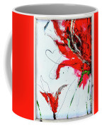 Framed Scribbles And Splatters On Canvas Wrap Coffee Mug