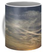 France, Paris, Tail Of Smoke In Sky Coffee Mug