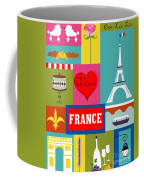 France Vertical Scene - Collage Coffee Mug