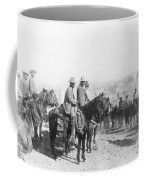 Francisco Pancho Villa (1878-1923). Mexican Revolutionary Leader. Photographed While Reviewing Troops, C1914 Coffee Mug