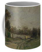Francois Daubigny   The Garden Wall Coffee Mug